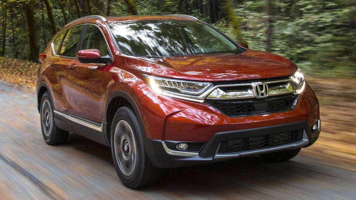 A 2019 Honda CR-V under recall due to an issue with the owner's manual