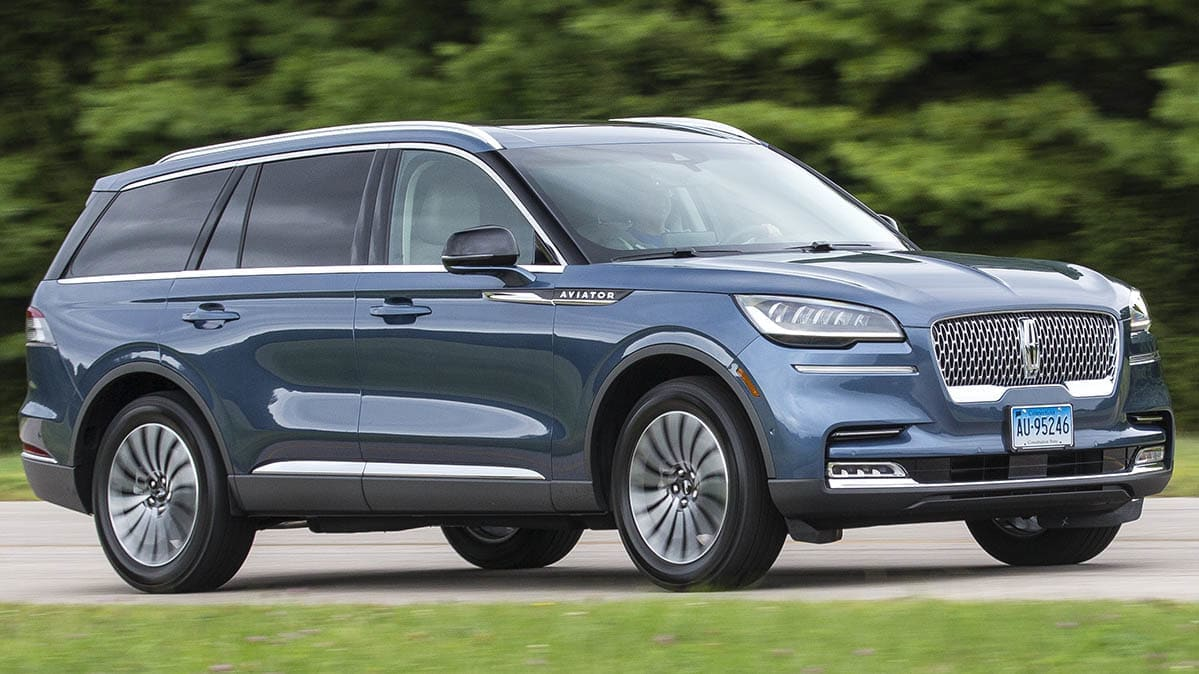 2020 Lincoln Aviator front driving