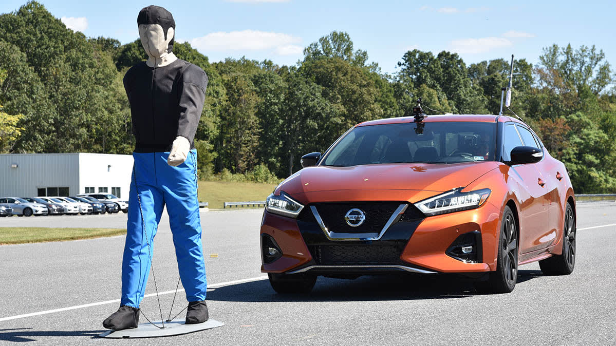 IIHS pedestrian detection test - Maxima