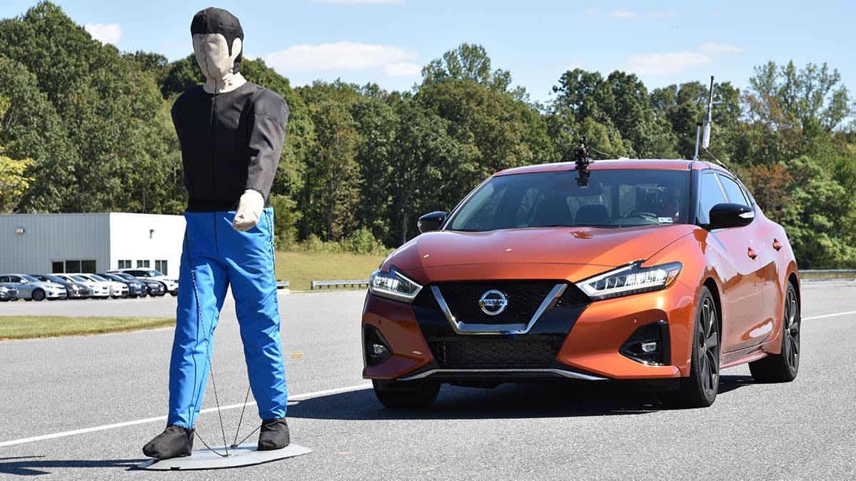 Cars Make Progress in Pedestrian Detection, Crash Tests Show