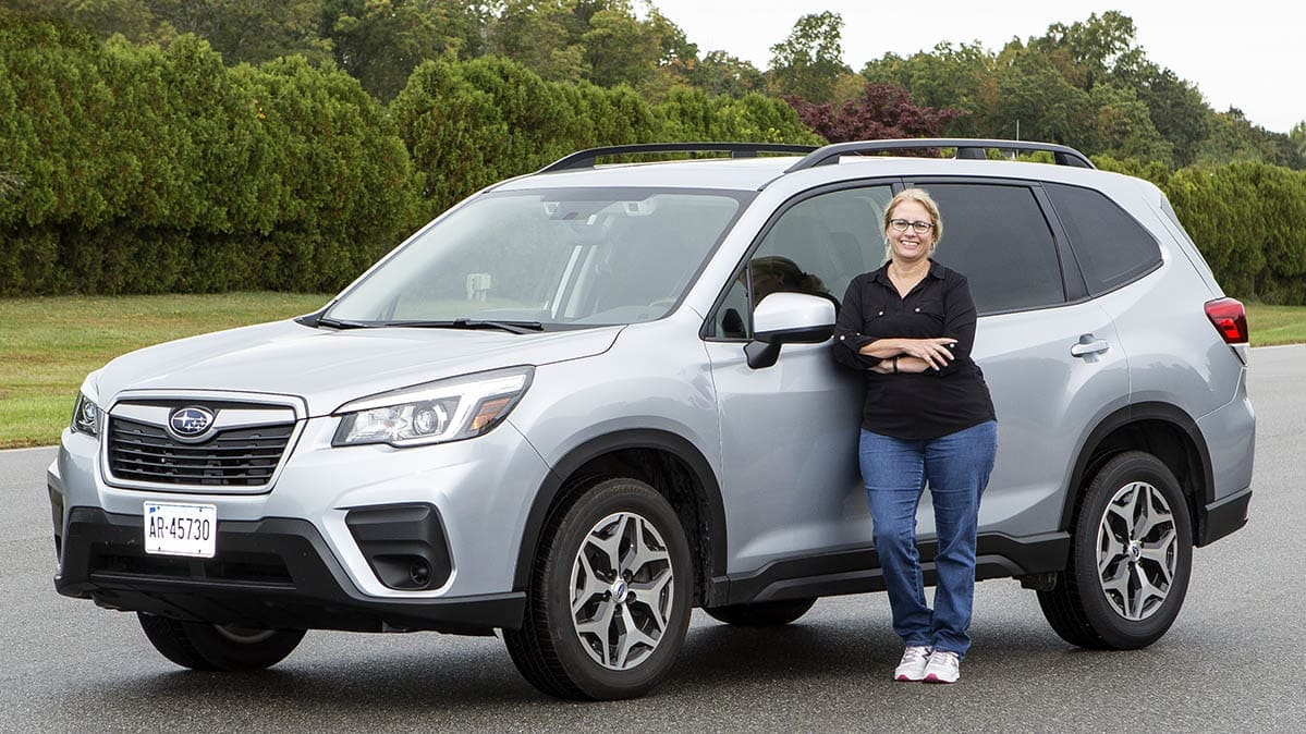 Best SUV for short people, showing a Subaru Forester