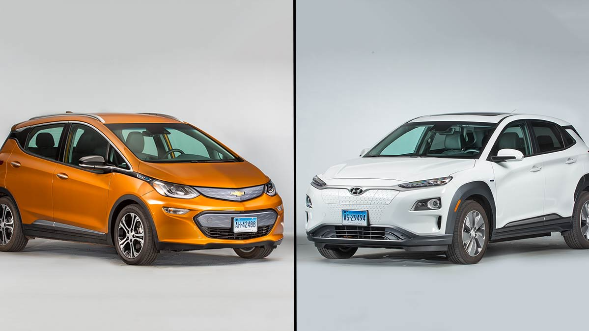 Chevrolet Bolt and Hyundai Kona Electric
