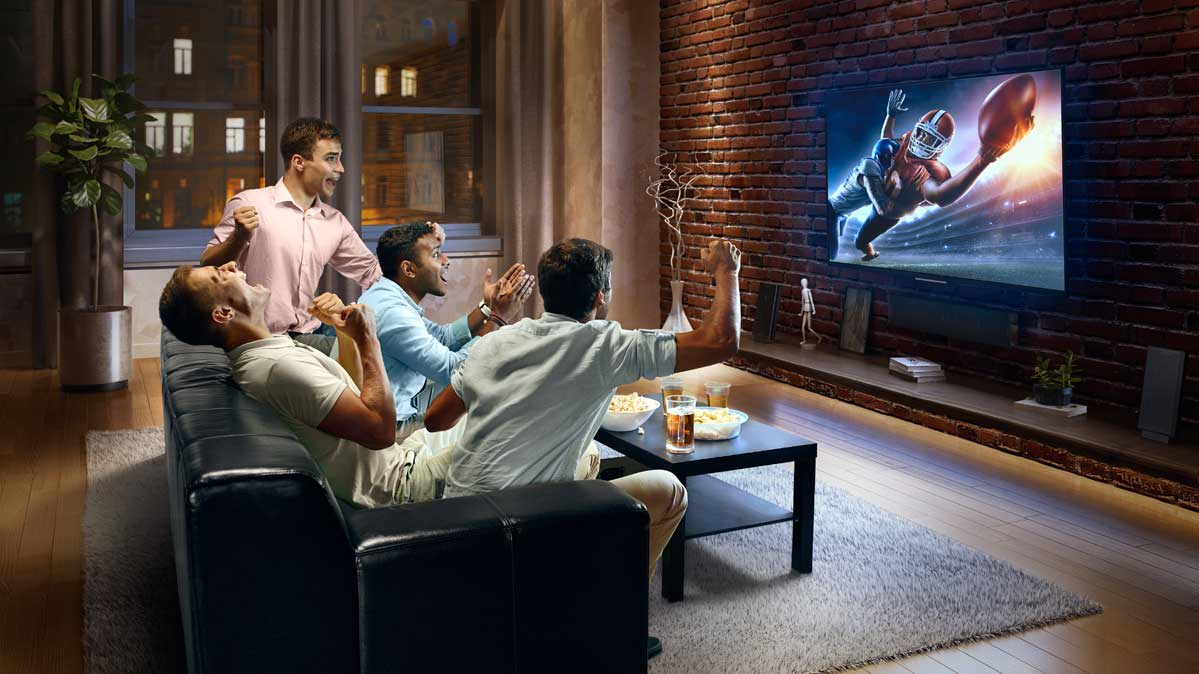 Image result for watching the superbowl on a tv