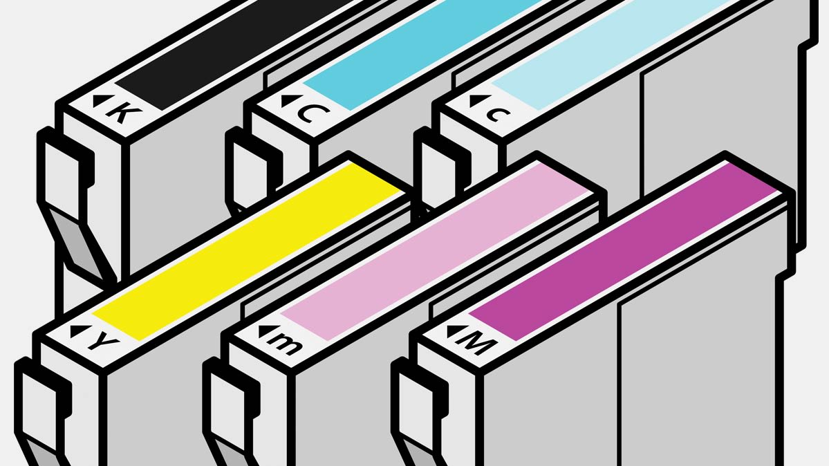 An illustration of ink cartridges