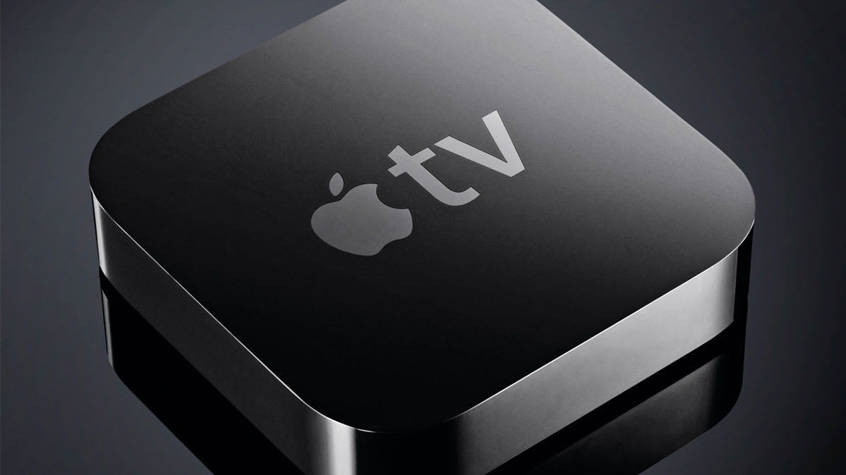 Apple TV streaming device.