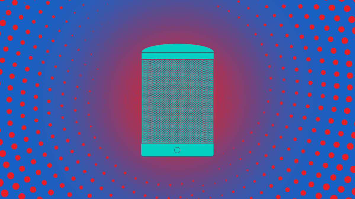 Illustration of smart speaker for article about changing smart speaker privacy settings.