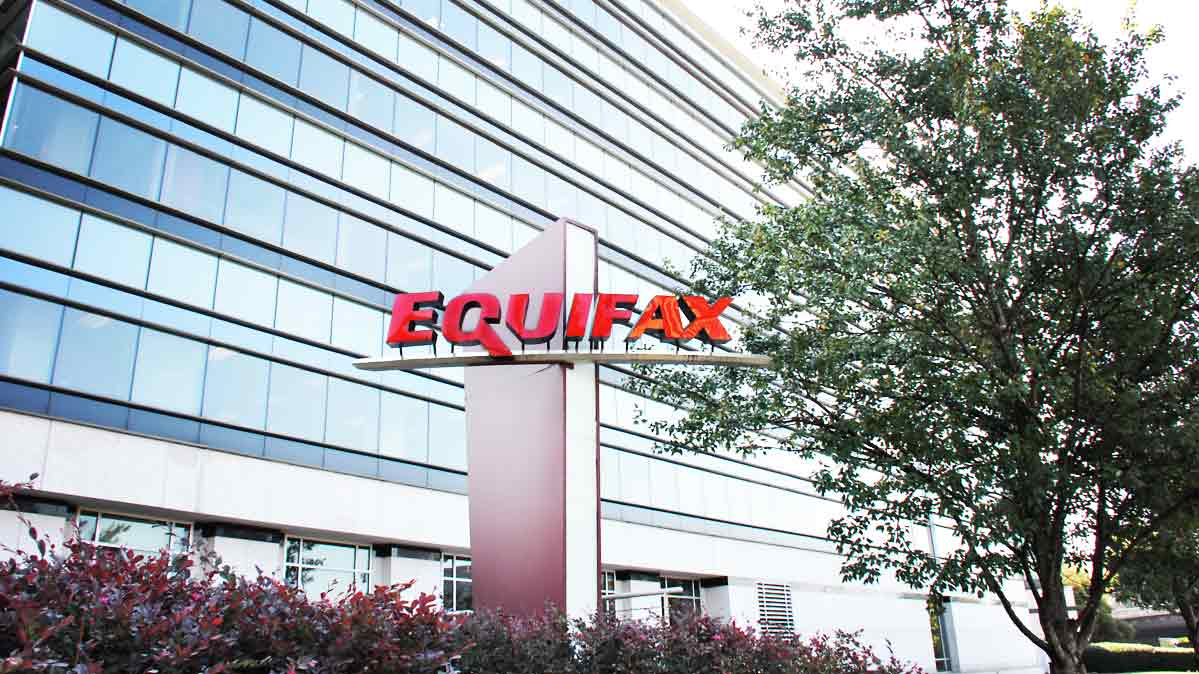 Equifax sign in front of an office building