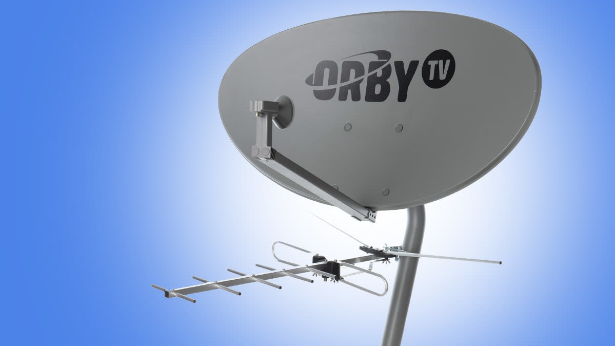 Photo of the OrbyTV satellite dish