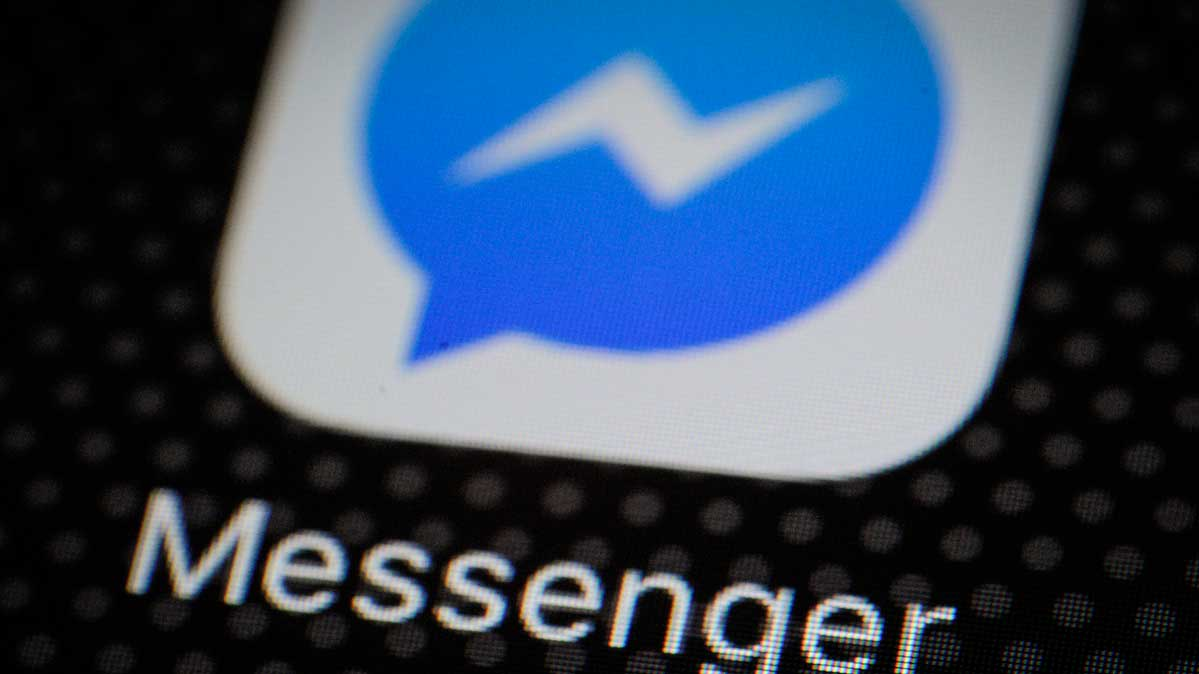 Photo of Facebook's Messenger app on a phone.