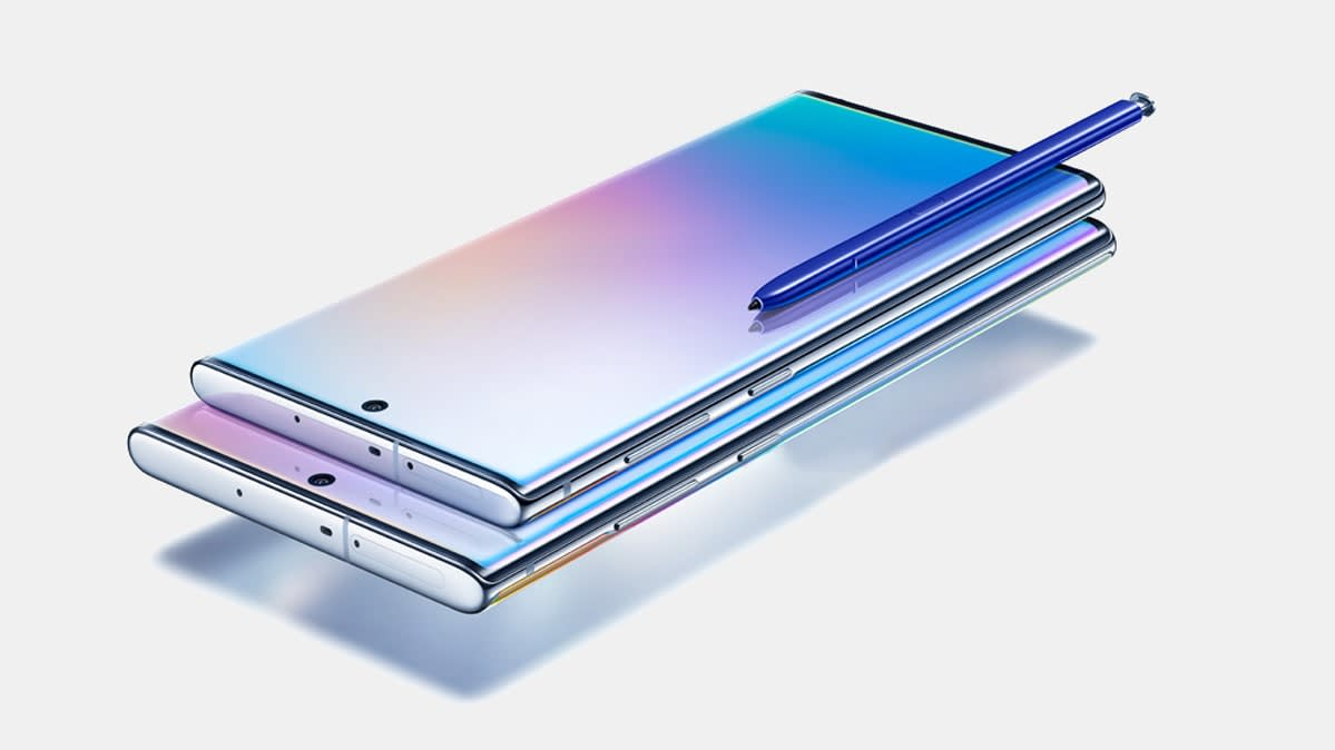 Photo of the Samsung Galaxy Note10