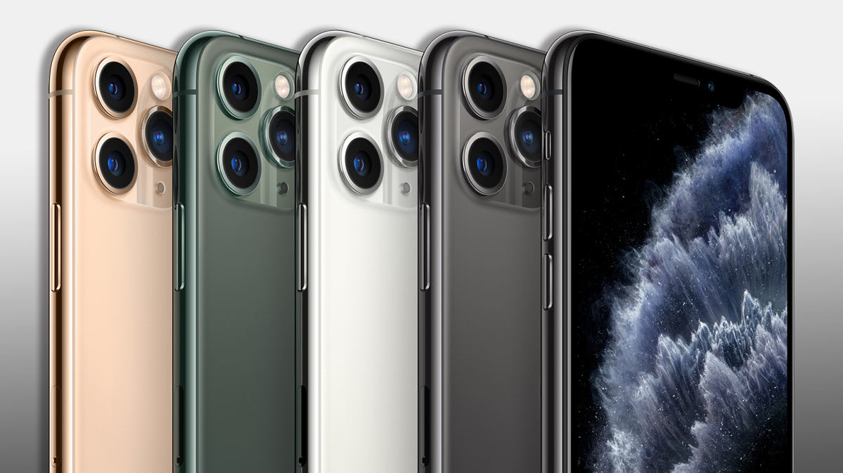 The metallic tones of the iPhone 11 Pro and Pro Max, plus a new Midnight Green color.