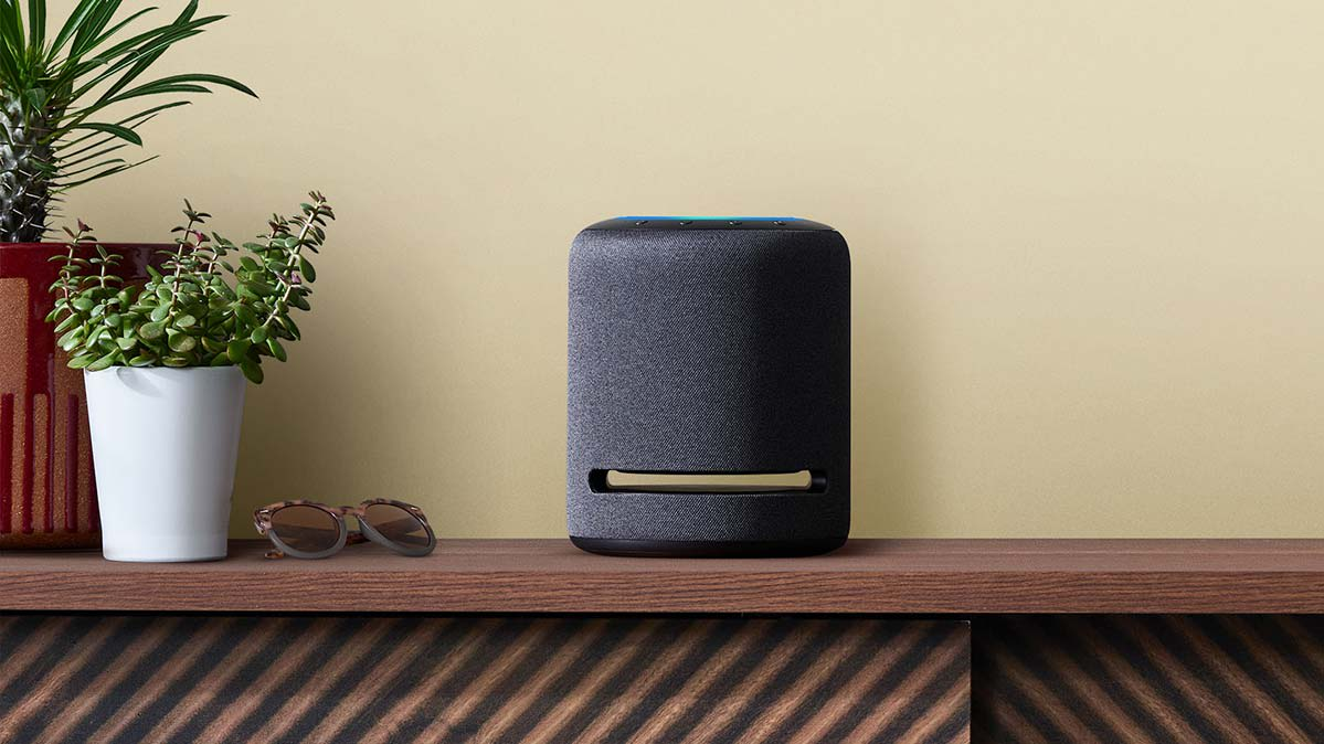 The Echo Studio smart speaker is among the newly announced Amazon Alexa products.