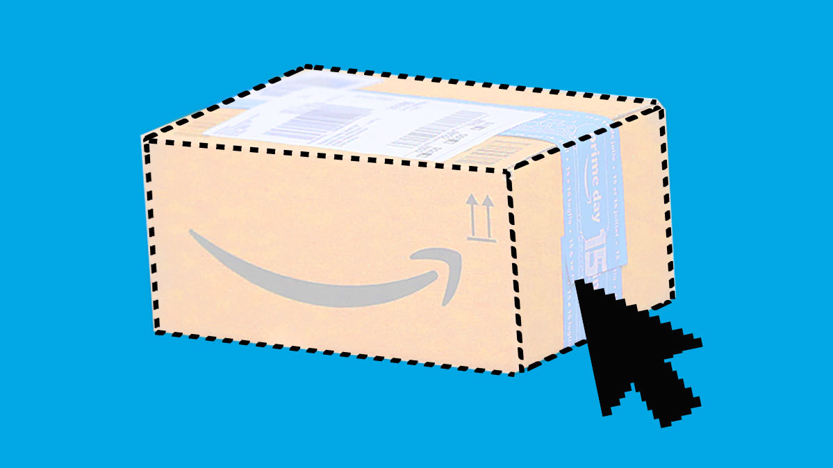 An Amazon gift package
