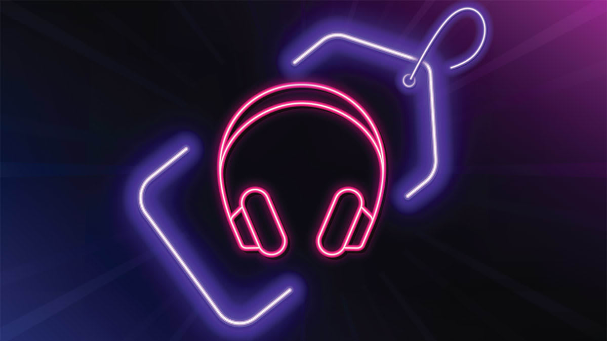 An illustration of a pair of headphones.