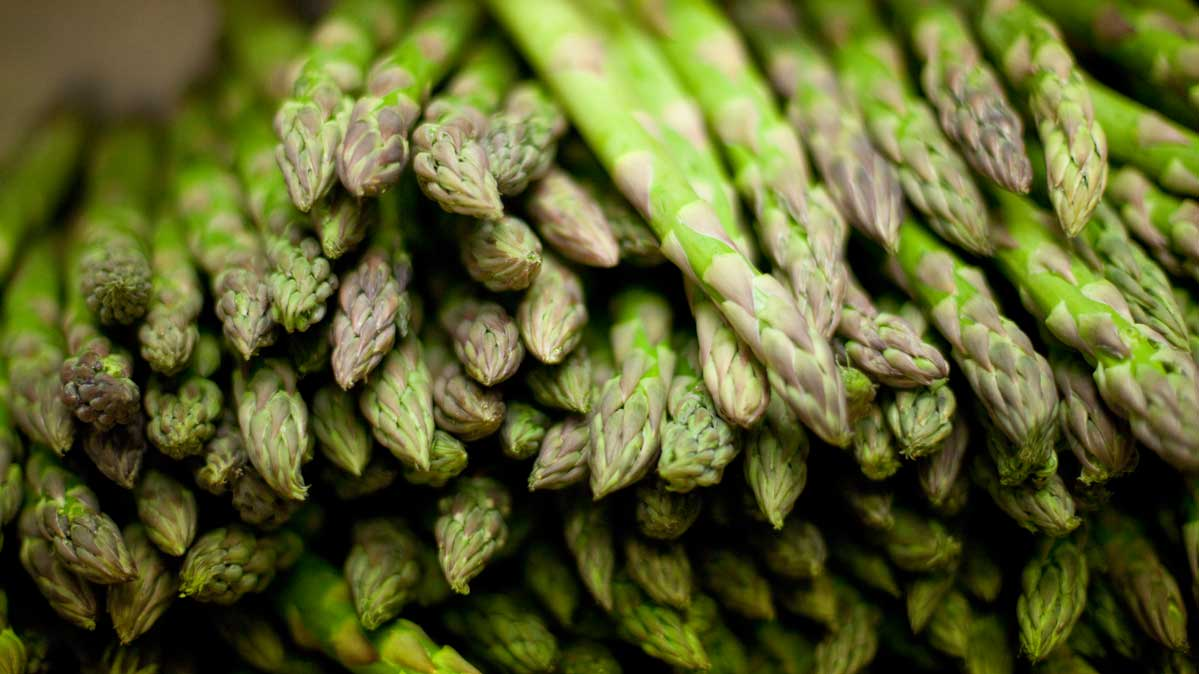 Asparagus is one food that will help you eat healthier