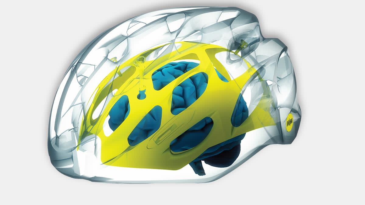 The MIPS Brain Protection System, a helmet technology that may help prevent concussions.