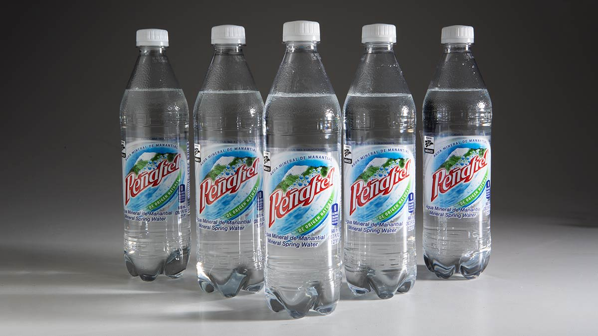 Bottles of Peñafiel brand bottled water from Keurig Dr Pepper.