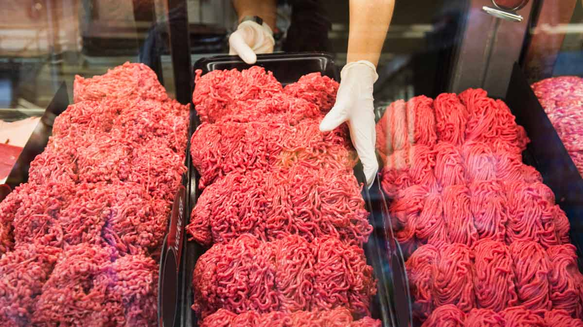 Ground beef. Ground beef may contain E. coli.