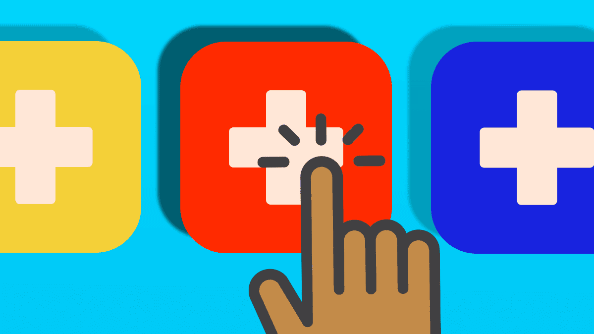 Illustration of health app icons.