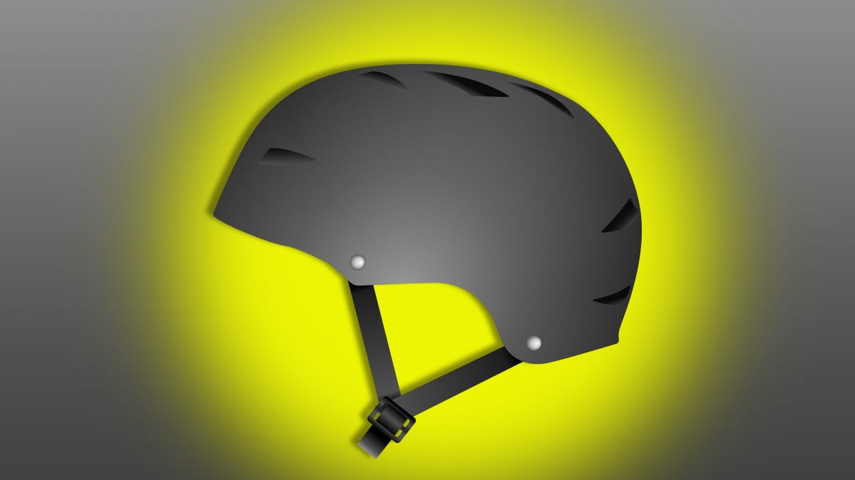 Illustration of bike safety helmet.
