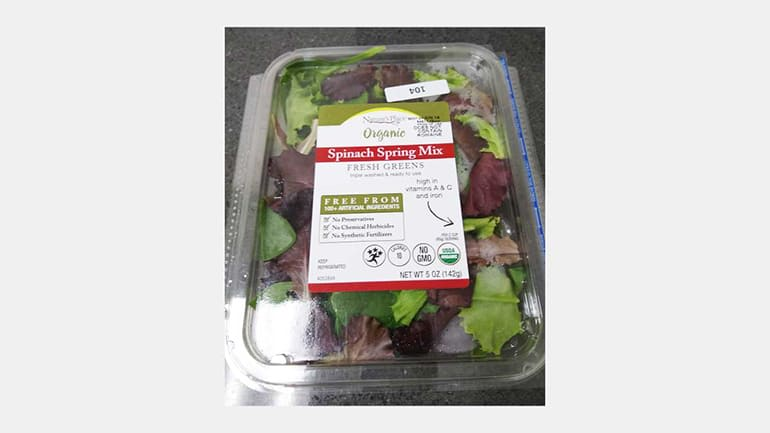 Nature's Place Organic Spinach Spring Mix is one of the products CR found to be contaminated with listeria.