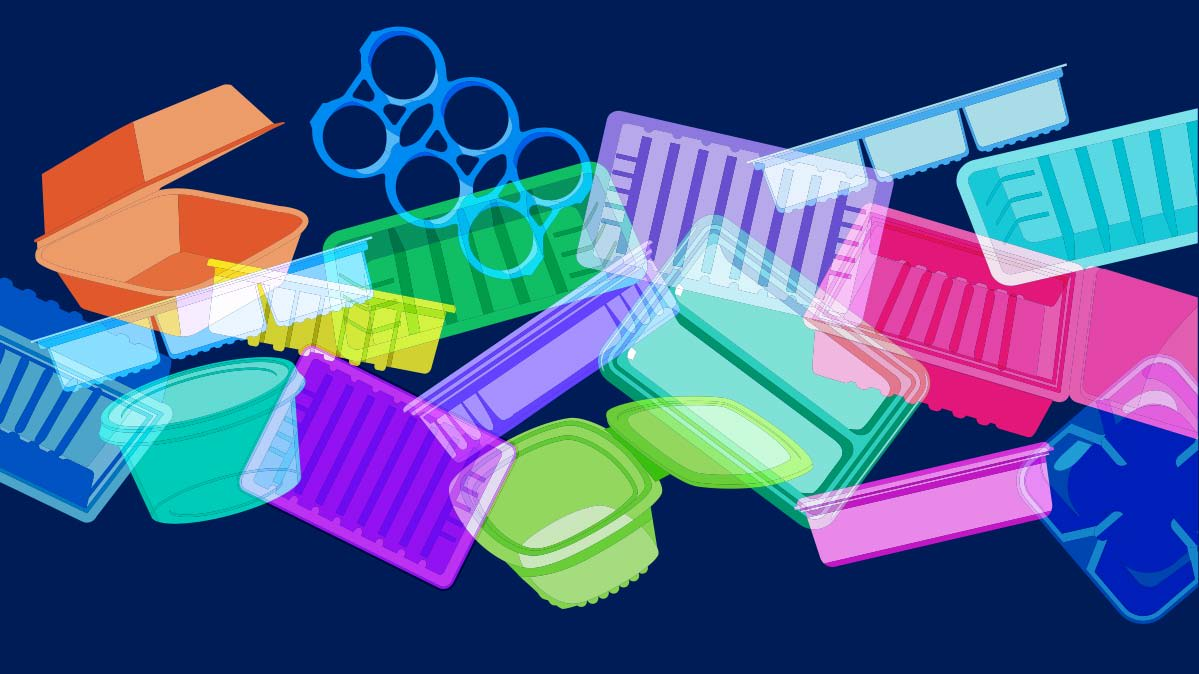 different plastics made of chemicals that add various properties