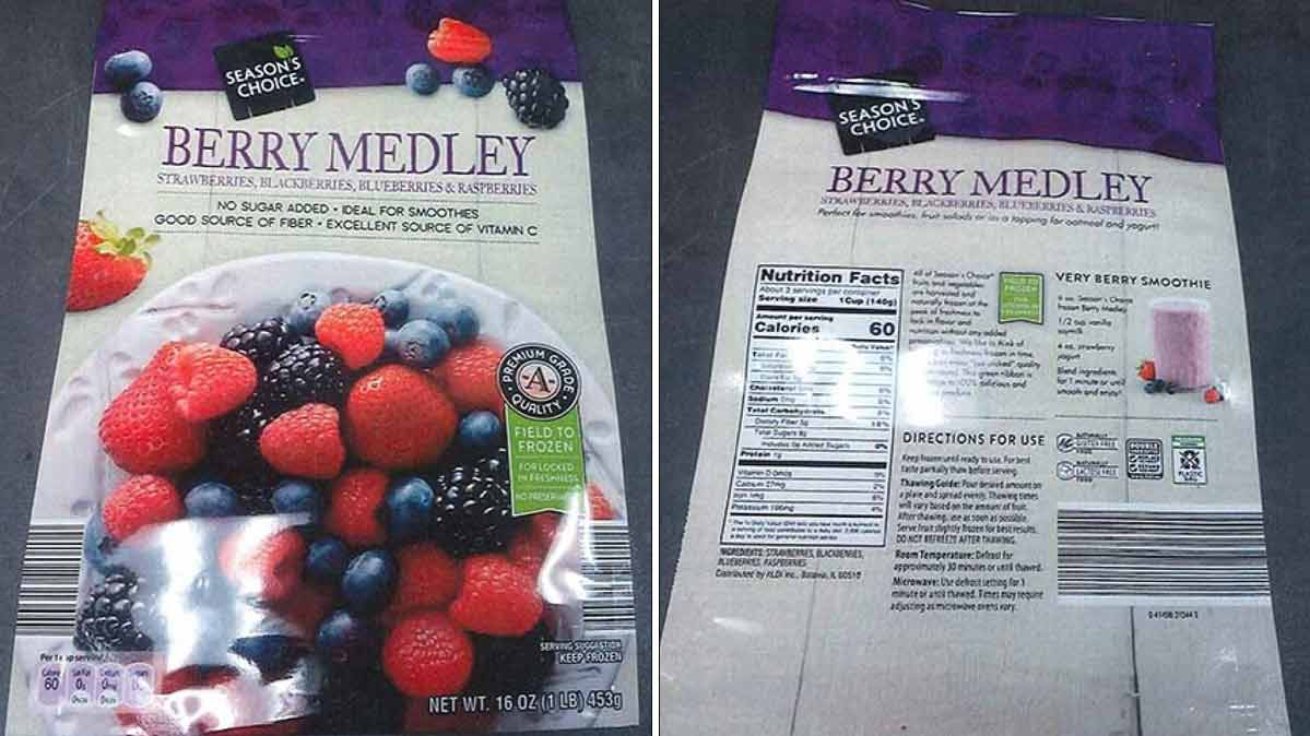 Season's Choice Berry Medley frozen berries
