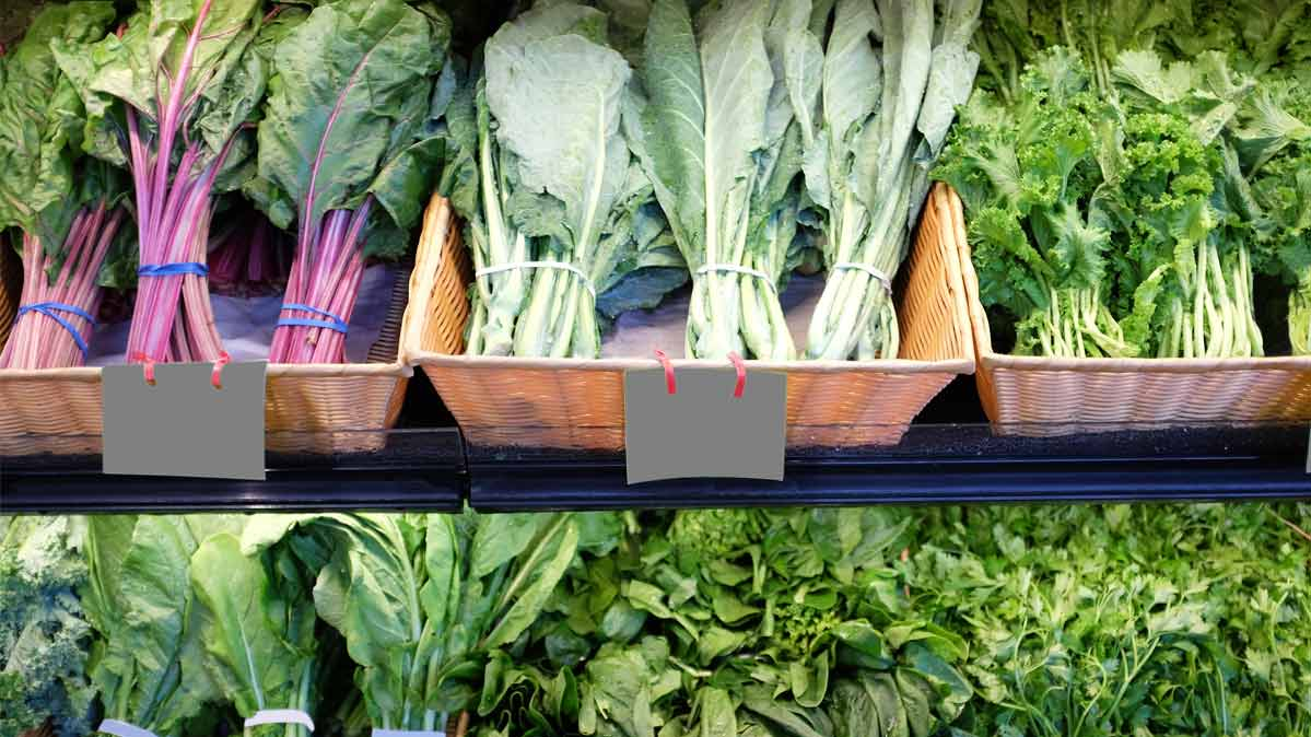 Different types of leafy greens that are a good source of vitamin K.