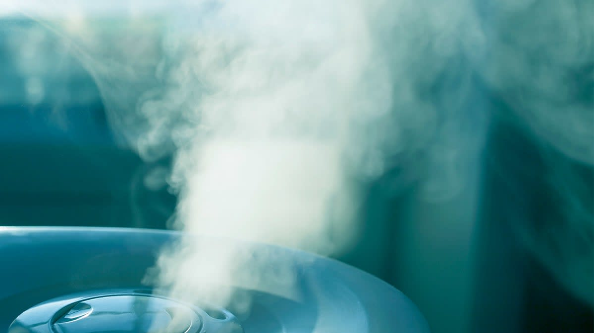 A humidifier generating mist
