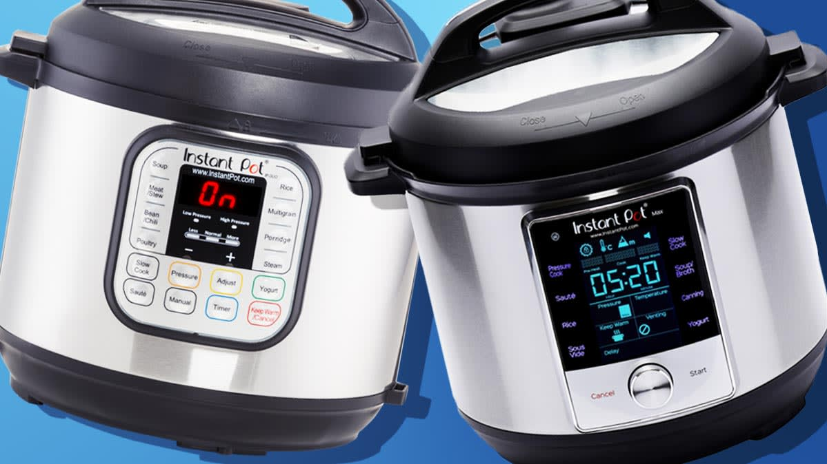 The Instant Pot Duo60 7-in-1 appears next to the Instant Pot Max.