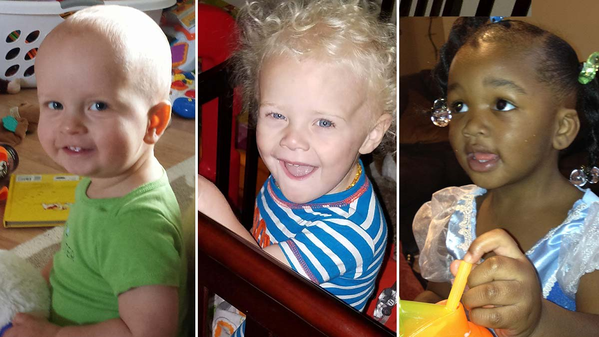 Camden Ellis, Conner Charles DeLong, Sydney Chance Bowles, each of whom died from a furniture tip-over.