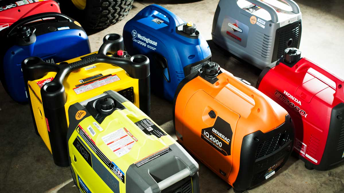 An illustration of portable generator types