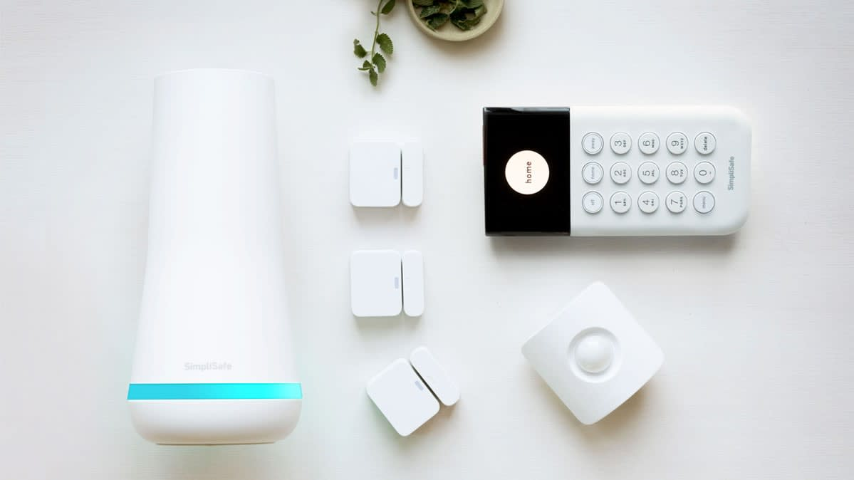 Components of a SimpliSafe home security system