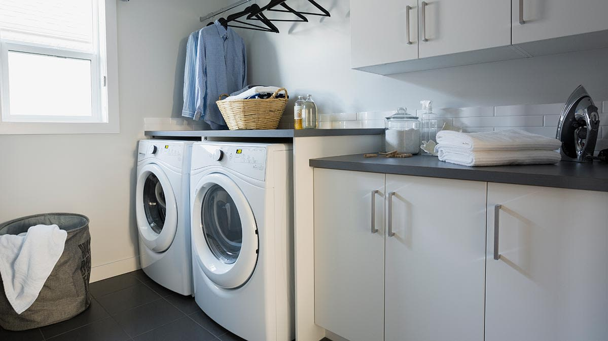 Photo of a laundry room