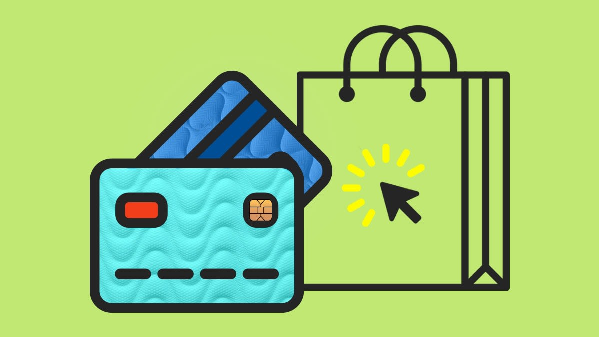 Illustration representing online shopping