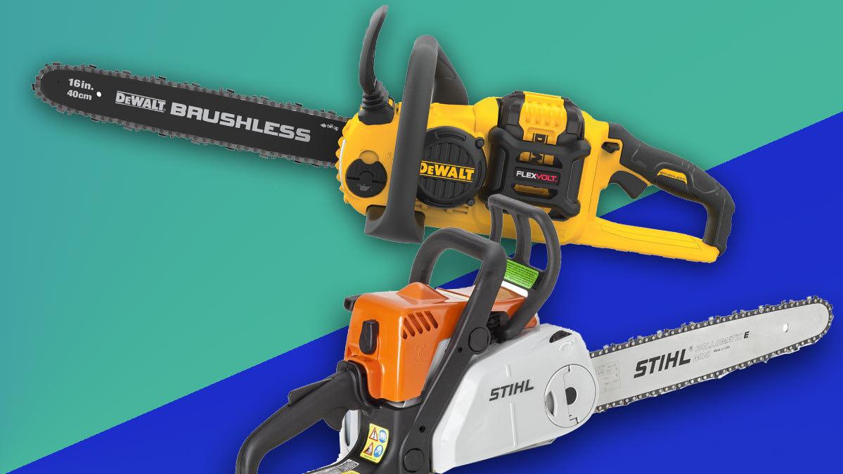 Chainsaw Face Off Electric Dewalt Vs Gas Stihl