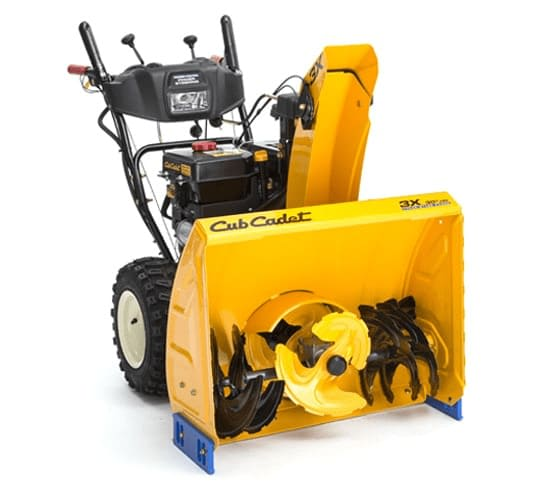 A three-stage gas snow blower.