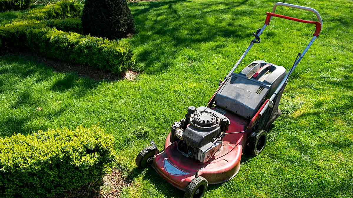 A lawn mower that needs to be winterized for colder weather