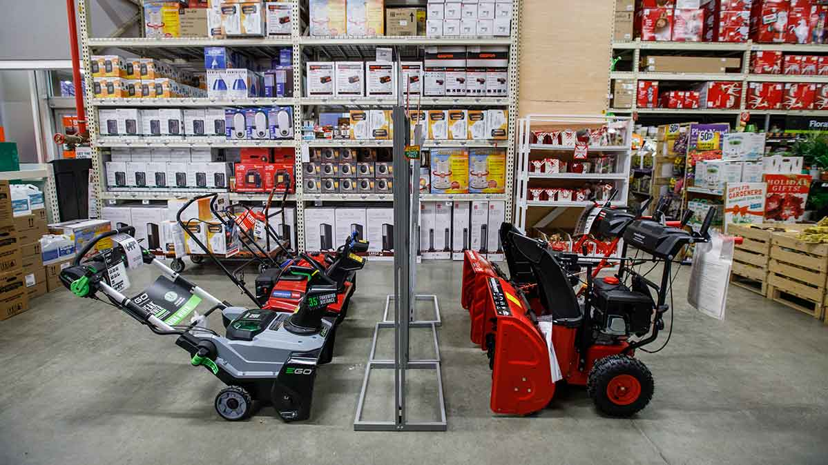 Snow blowers for sale at Home Depot