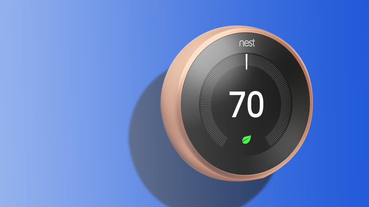 The Google Nest Learning Thermostat, one of the best smart thermostats in CR's tests.