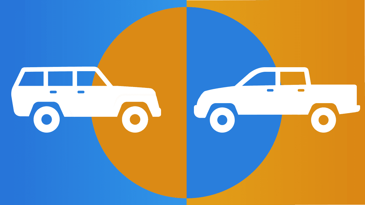 SUV or Pickup graphic