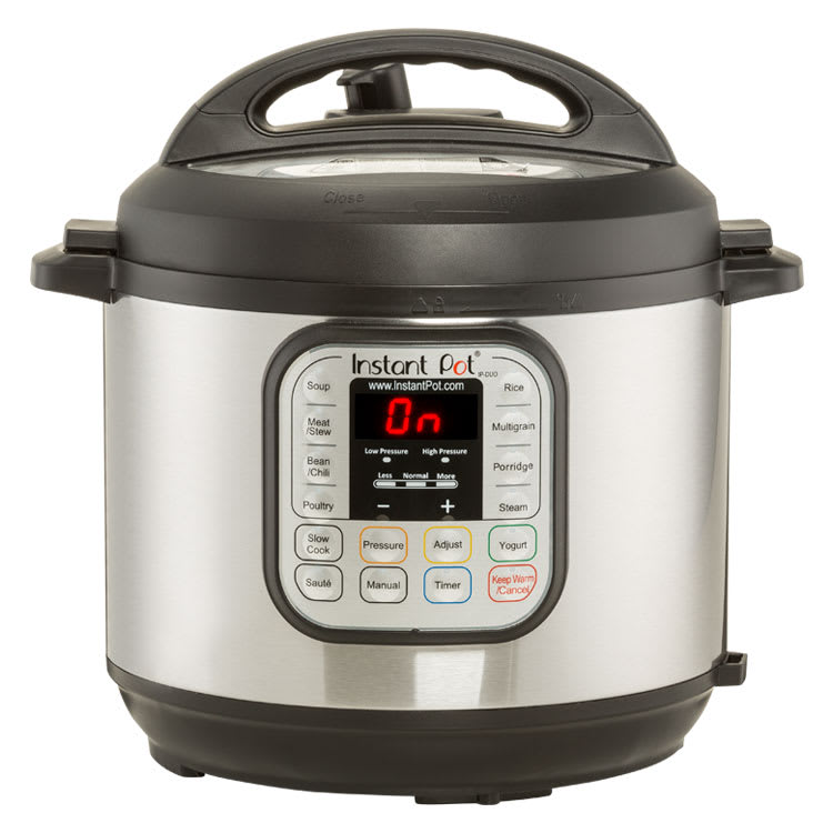A multi-cooker with a pressure cooker mode.