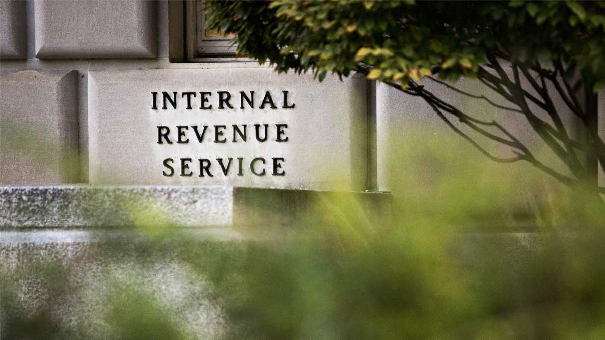 The exterior of the IRS building in Washington, D.C.