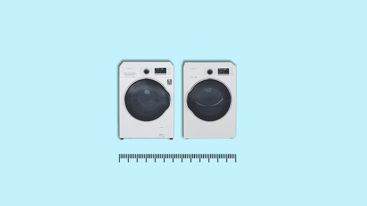 image of a matching compact washer/dryer