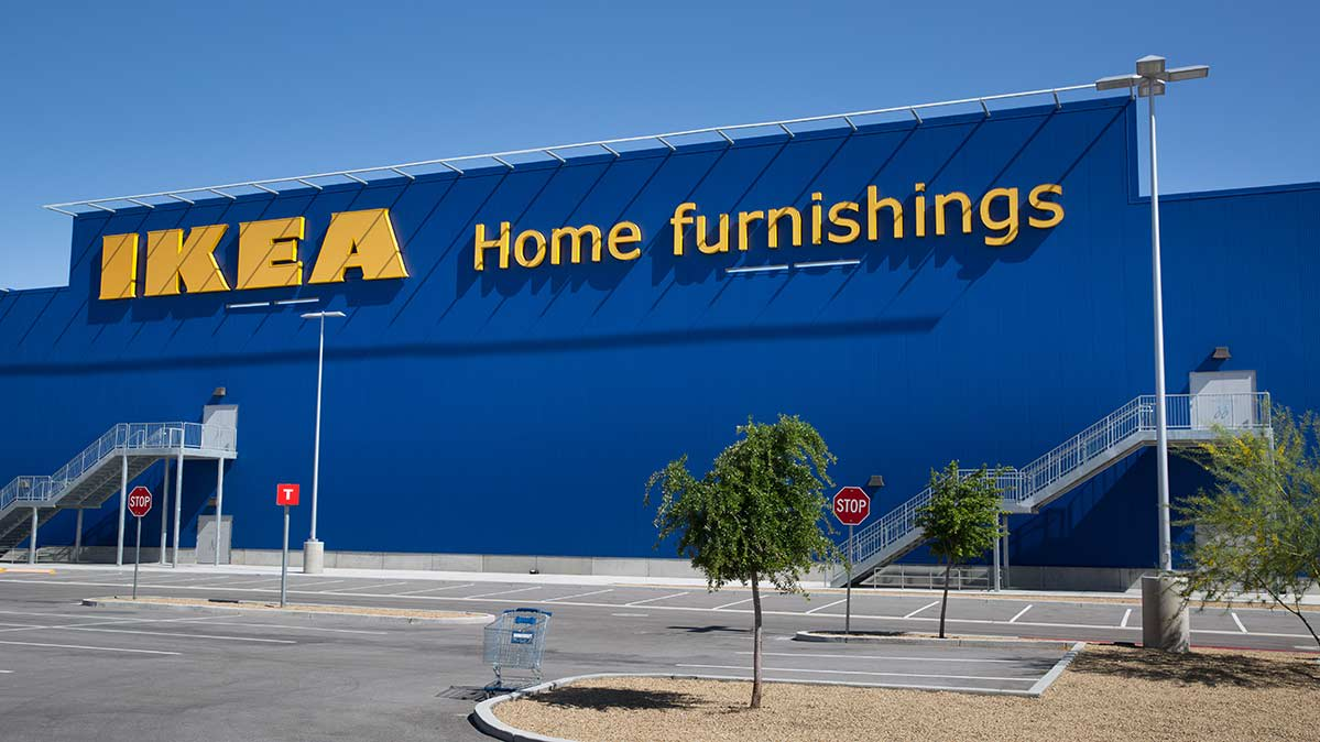 Exterior photo of an Ikea store