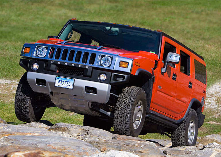 2008 Hummer H2 climbing the CR rock hill