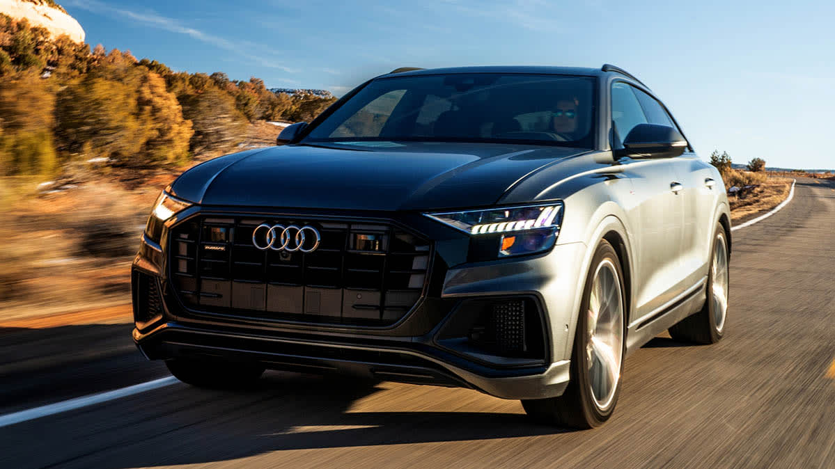 An Audi SUV with connected-car technology