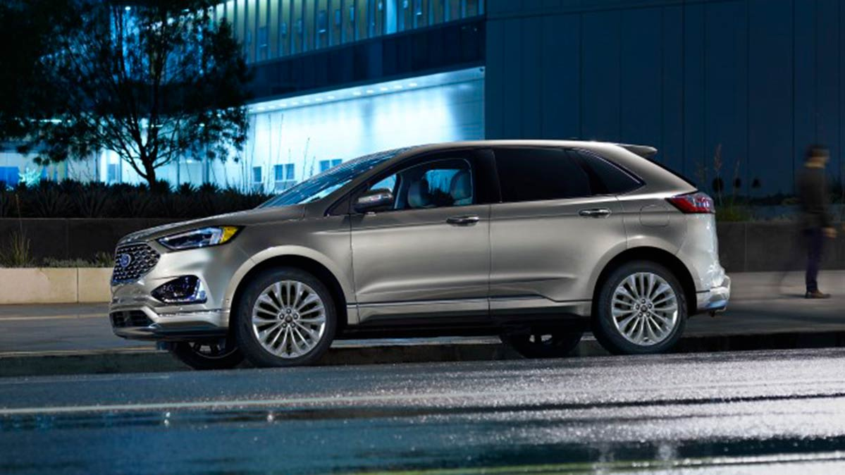 Ford Edge is among the midsized SUVs with standard safety systems that won't break the bank.