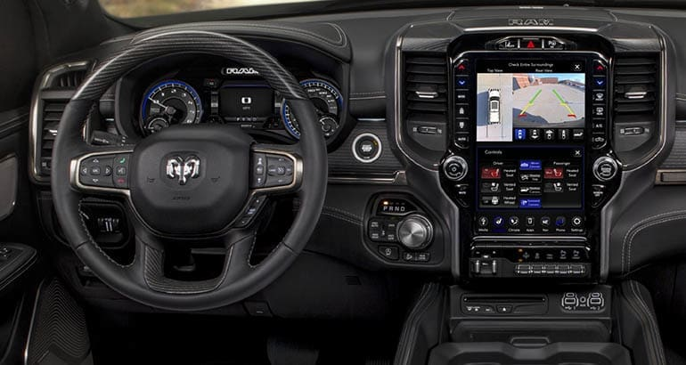 2020 Ram 1500 pickup with 12-inch display included in the recall