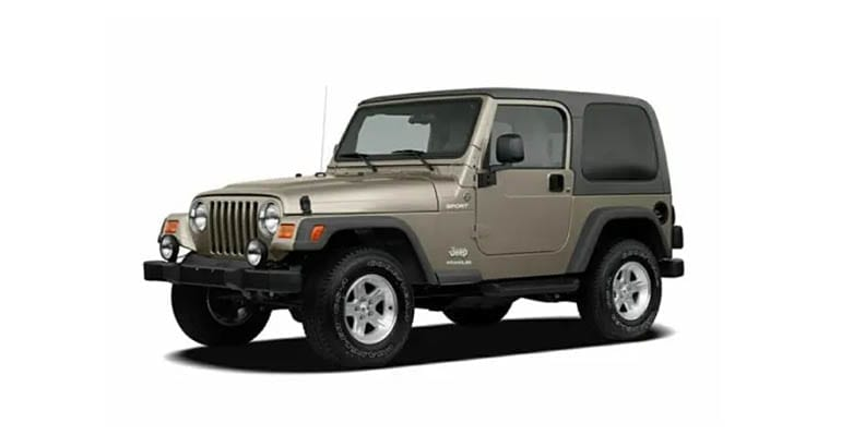 The 2006 Jeep Wrangler is among the models most likely to need an engine rebuild.